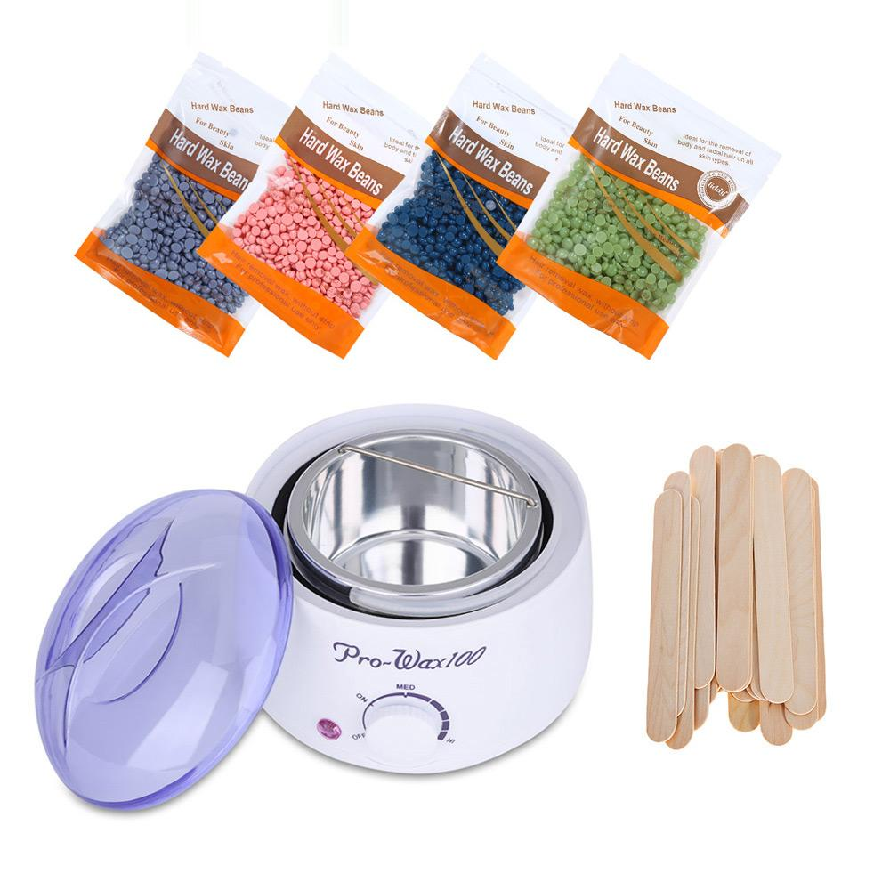 Wax Removal Kit with 400g Wax Beans and 20pcs Wooden Depressors