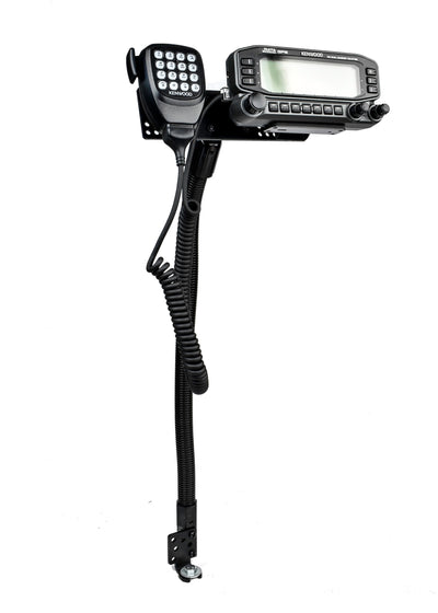 "LM-300-18-EXT 18"" Car Seat Bolt Mount With EXT-01 Extension Bracket and Mic Holder For Kenwood TM-D710"