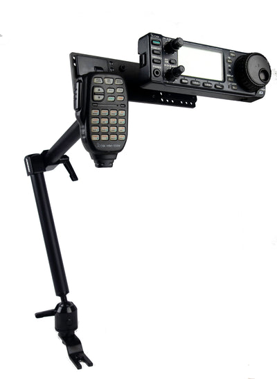 LM-300HD-EXT Low Vibration Seat Bolt Mount With Microphone Holder For Icom IC-706 IC-7000 IC-7100 IC-2820 ID-880 ID-4100