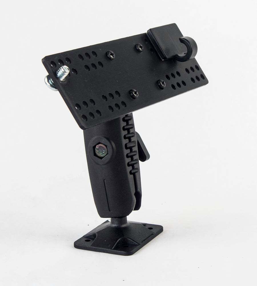 "LM-500-EXT  Heavy Duty Ram 1"" Ball Style Drill Base Mount With Mic Holder For Icom IC-706 IC-7000 IC-7100 IC-2820 ID-880 ID-4100"