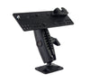 "LM-500-EXT HEAVY DUTY RAM 1"" BALL STYLE DRILL BASE MOUNT WITH MIC HOLDER FOR YAESU FTM-100 FTM-300 FTM-350 FTM-400 FT-891"