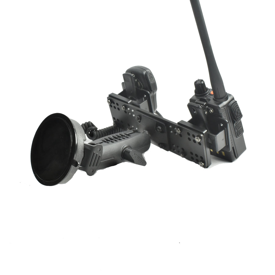 Suction Cup Mount With Multiple Device Holder For All Portables