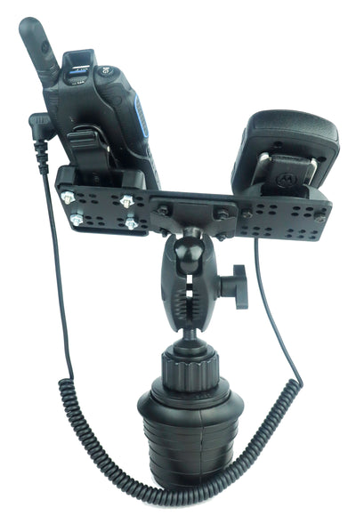 Industrial Fleet Cup Holder Mount With Microphone holder for Motorola Wave TLK100