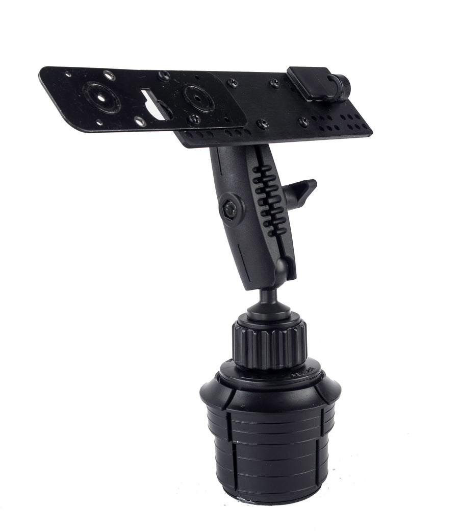 LM-802-EXT Heavy Duty Cup Holder Mount With Microphone Holder For Icom ID-5100 IC-2730