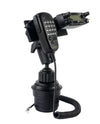 LM-802-EXT Heavy Duty Cup Holder Mount With Microphone Hanger For Yaesu FT-857 FT-7800 FT-7900 FT-8800 FT-8900