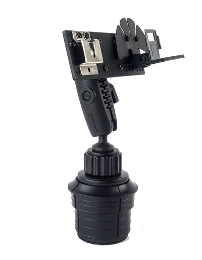 LM-802-EXT Heavy Duty Cup Holder Mount With Microphone Hanger For Kenwood TM-D710 TM-D700 TM-V71 TS-480