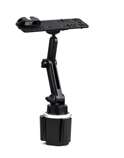 LM-803-EXT Cup Holder Mount With Heigth Adjustment And Mic Holder For All HT's