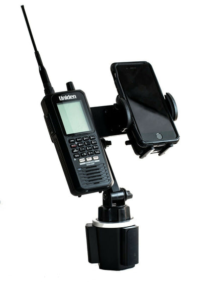 LM-803-EXT Cup Holder Mount For Scanners and HT's Includes A Smartphone Holder