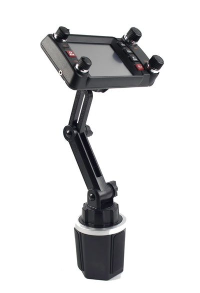 LM-803 Cup Holder Mount With Height Adjustment Control For Yaesu FTM-300 FTM-350 FTM-400 FT-891