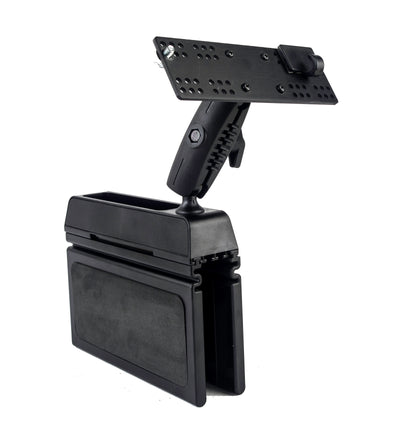 LM-Wedge-EXT Wedge Mount With Mic Holder  For The Icom IC-706 IC-7000 IC-2820 ID-880 ID-4100 With Microphone Mount
