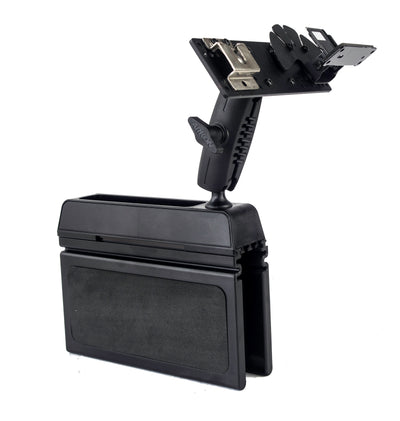 LM-Wedge-EXT  Car Seat Console Wedge Mount With Mic Hanger For The Kenwood TM-D710 TS-480 TM-V71 TM-D700 With Microphone Mount