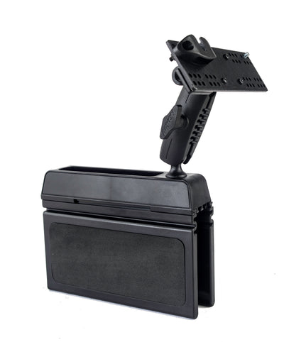 LM-Wedge Car Seat Console Wedge Mount With Microphone Holder For The Yaesu FTM-100 FTM-300 FTM-350 FTM-400 FT-891