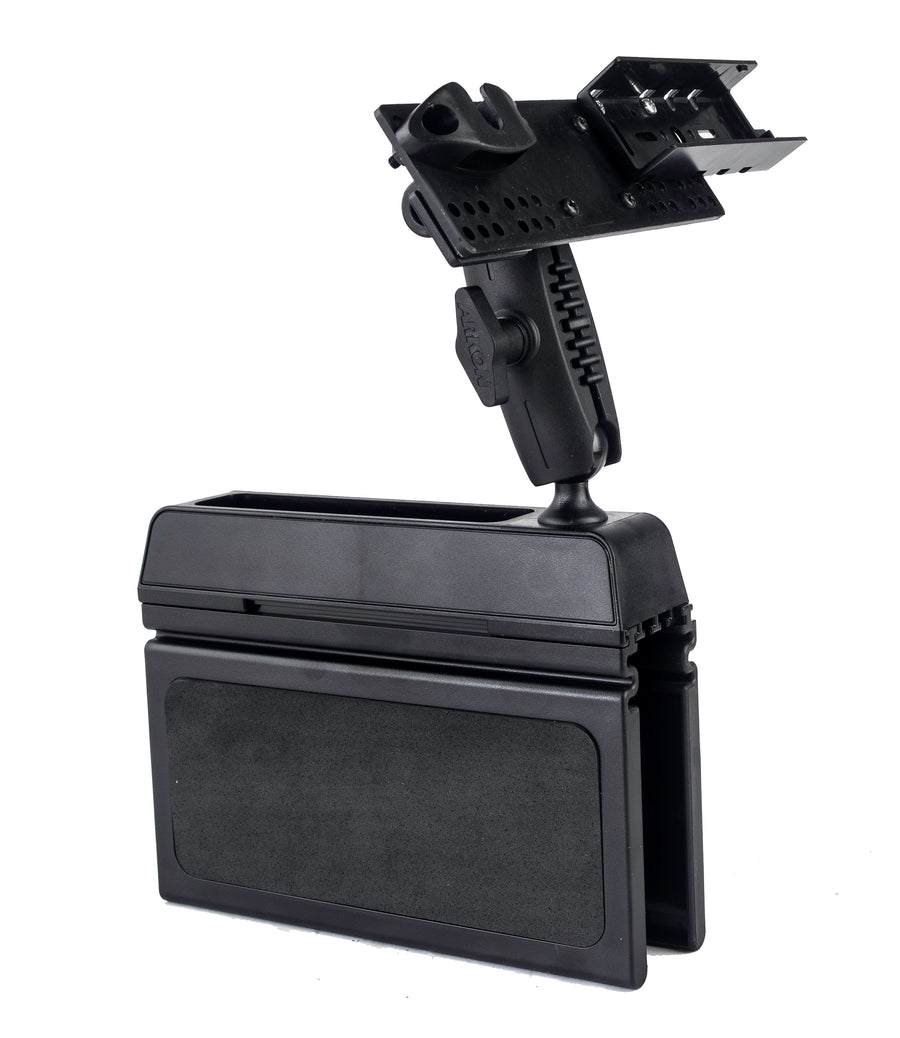 LM-Wedge-EXT Car Seat Console Wedge Mount With Microphone Holder For The TYT-7800 TH-9800