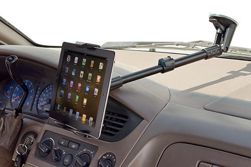 Quick-Release Extending Windshield Mount for Tablets