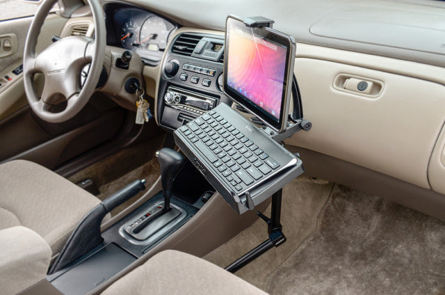 Tablet or iPad Keyboard Tray Combo Car Mount