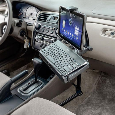 Heavy-Duty Tablet and Keyboard Tray Combo Car Mount