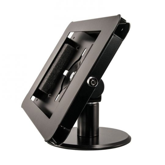 iPad Swivel Tabletop Stand with Key Lock for iPad 4, 3, 2, iPad Air 2 - BLACK