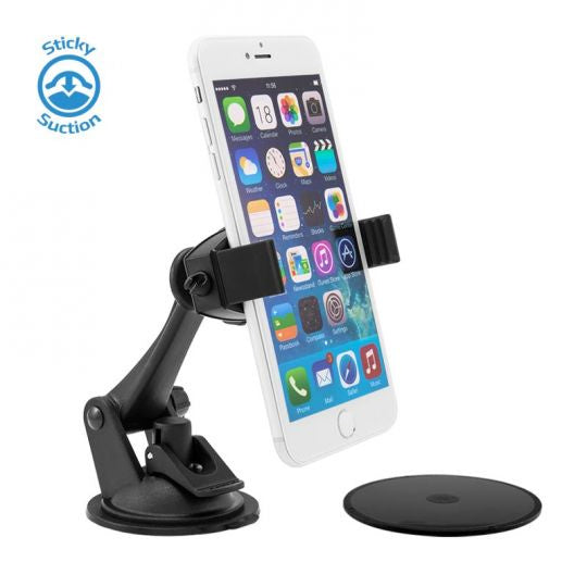 Mobile Grip 2 Phone Car Mount for iPhone 7, 6S, 6 Plus, 7, 6S, 6, 5S, Galaxy S7, S6, Note 5
