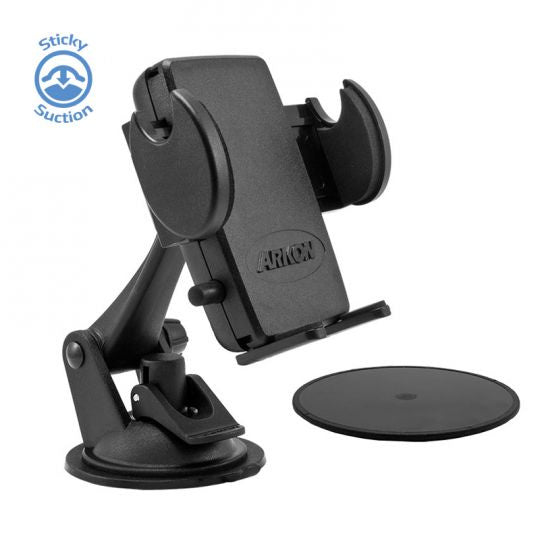 Mega Grip Sticky Suction Windshield or Dash Phone Car Holder Mount for iPhone 7, 6S, 6 Plus, 7, 6S