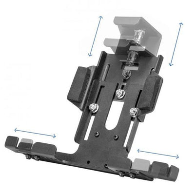 Universal Locking Adjustable Aluminum Tablet Holder with Key Lock for Galaxy Tab LG G Pad Models