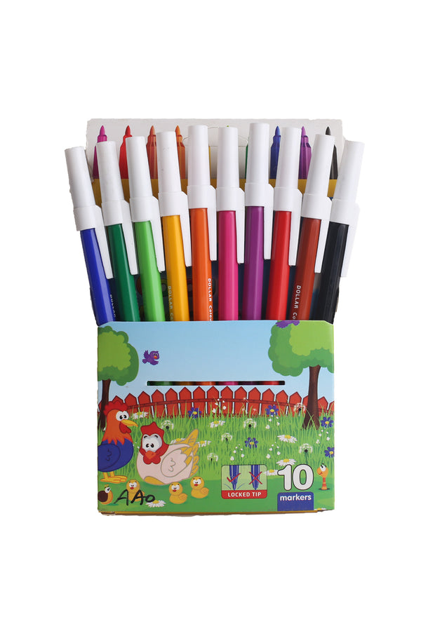 Dollar Color Markers 10 Pcs