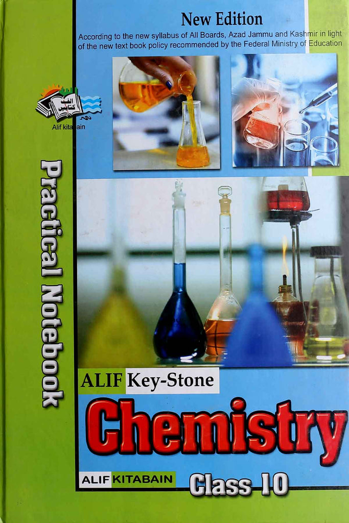 Alif Key-Stone Chemistry Practical Notebook Class 10 English Medium