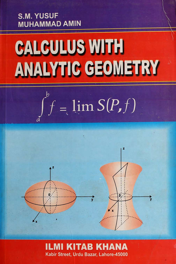Calculus With Analytic Geometry BA (3rd Year)