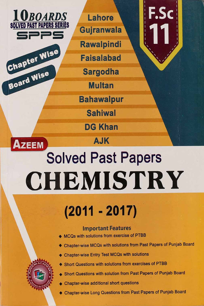 Chemistry Solved Past Papers (2011-2017)