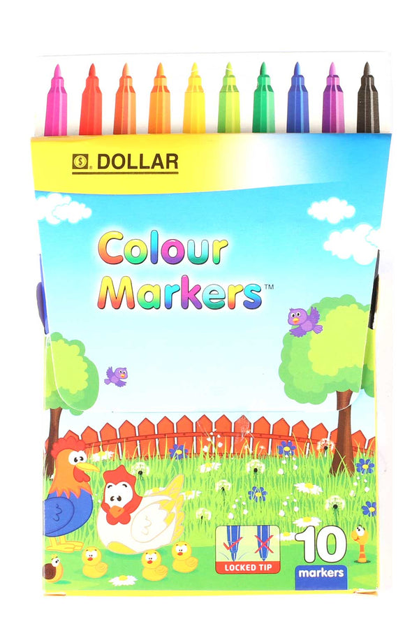 Dollar Colour Markers (Pack of 10 Markers)