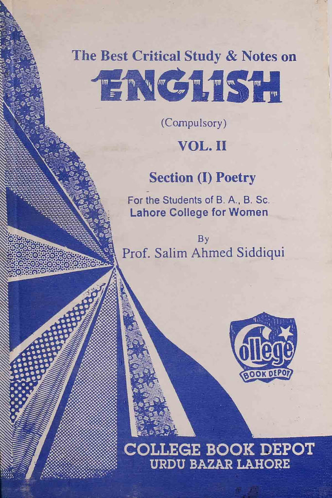 English Compulsory VOL. 2 Section (1) Poetry BA/BSC (Key Book)