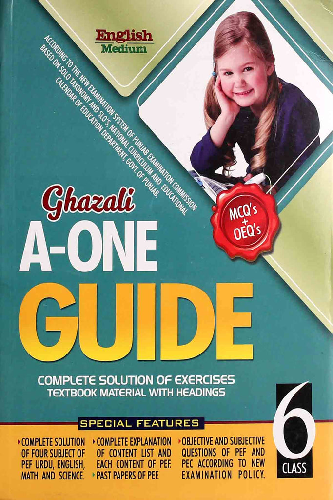 Ghazali A-One Guide English Medium Class 6