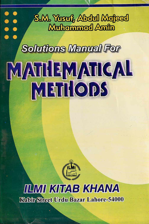 Mathematical Methods BA (4th Year) Key Book