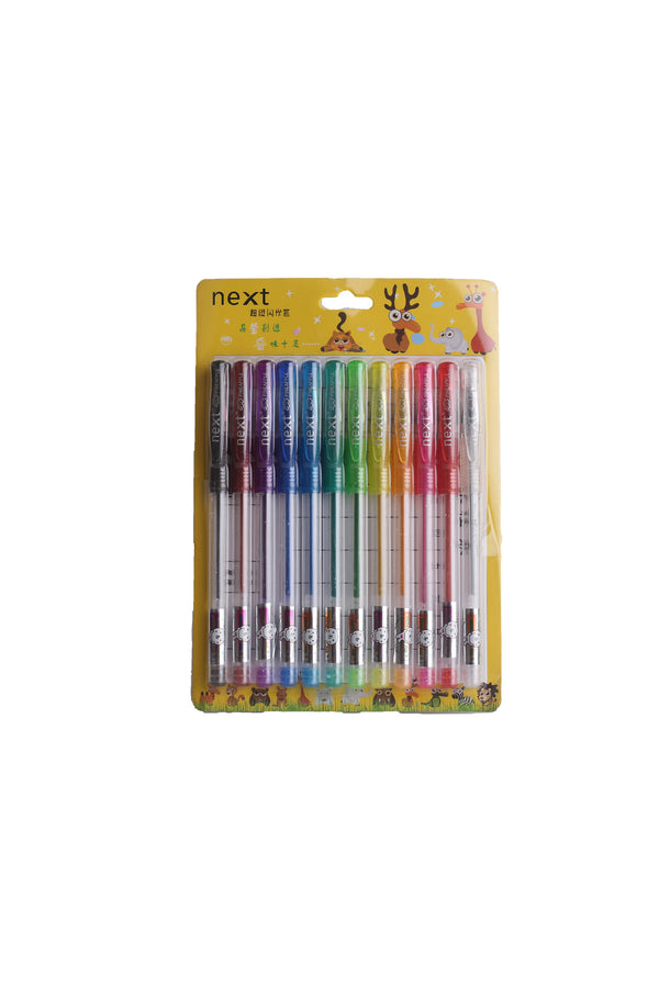 Next Glitter Color Pen (Pack of 12 Pens)