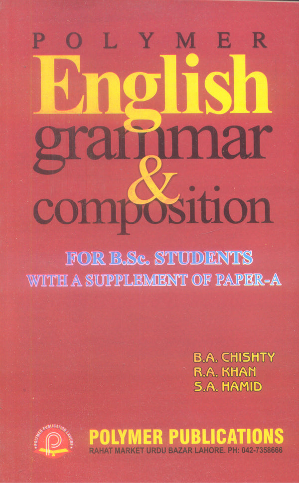 Polymer English Grammar & Composition For Bsc