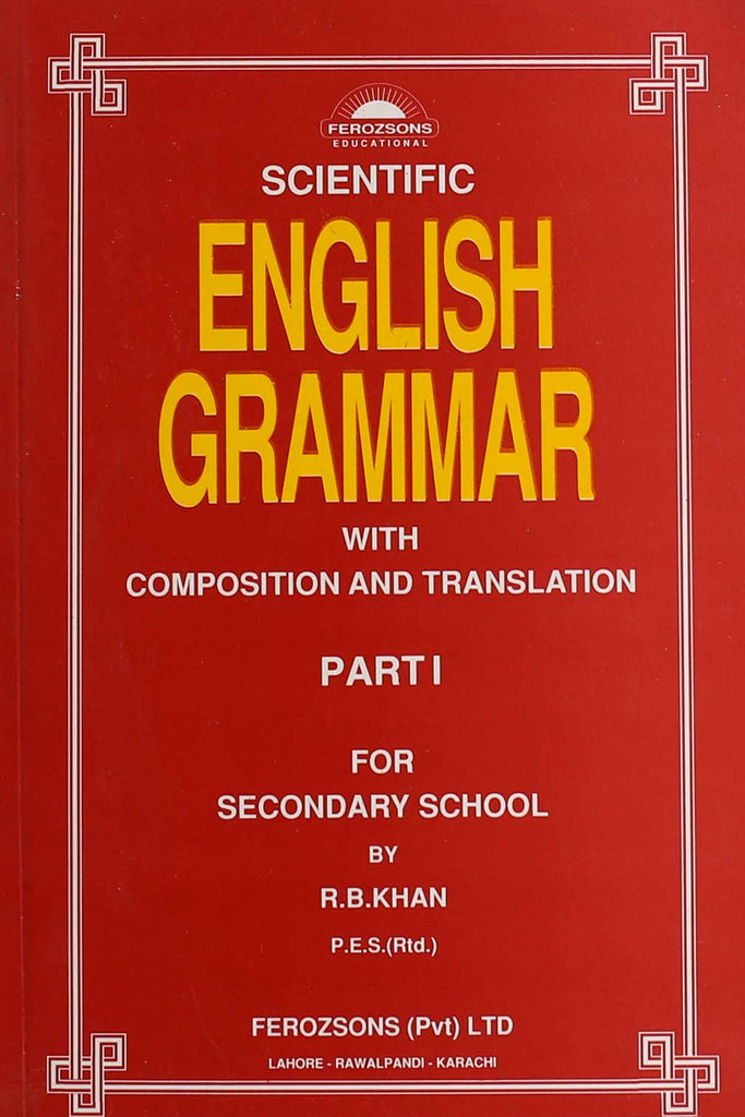 Scientific English Grammar Part 1 Class 6