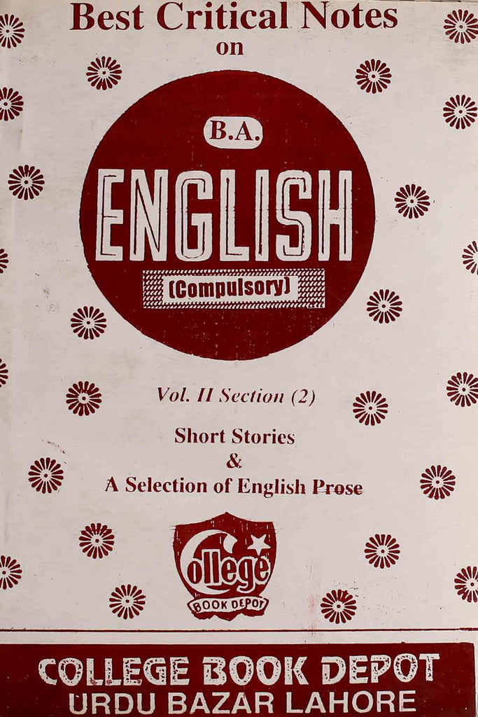 Best Critical Notes On B.a English Compulsory (Key Book)