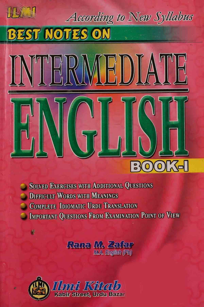 Best Notes On Intermediate English Book 1 (Key Book)