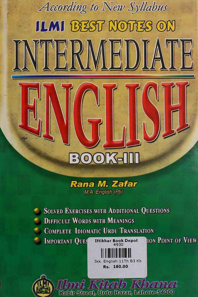 Best Notes On Intermediate English Book 3 (Key Book)