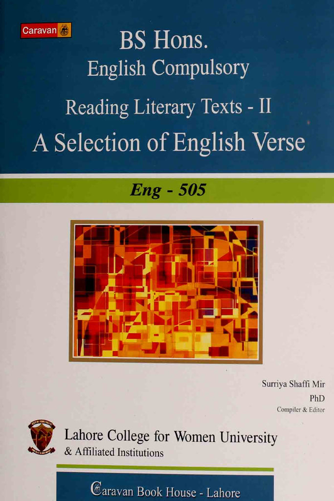 BS Hons English Compulsory Reading Literary Texts Part 2 A Selection Of English Verse Eng-505