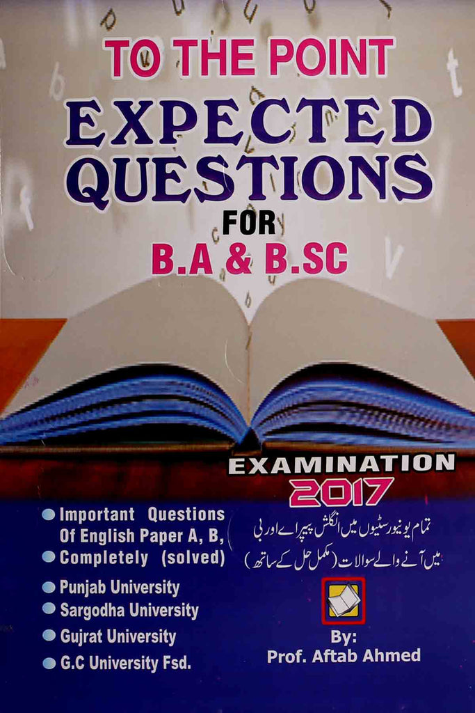 Expected Questions For BA | BSc