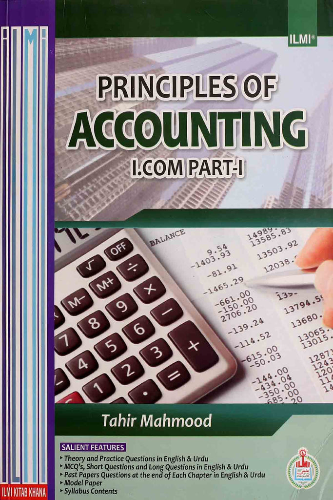 Principles Of Accounting I.Com Part 1