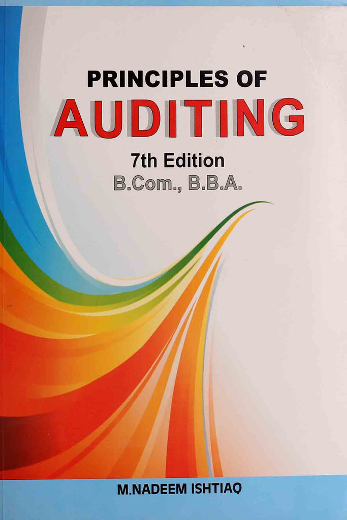 Principles Of Auditing B.Com , BBA