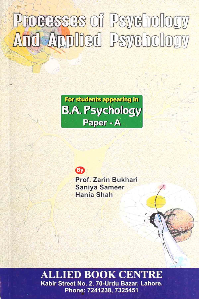 Processes Of Psychology And Applied Psychology BA (3rd Year)