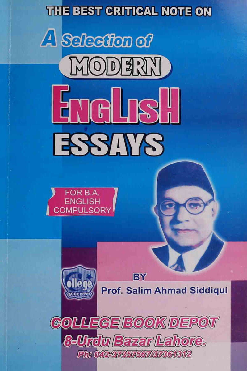 a selection of modern english essays for ba english  key book
