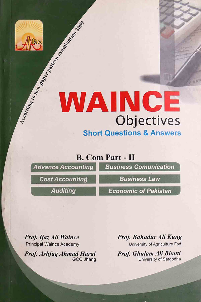 Waince Objectives Short Questions & Answers B.Com Part 2