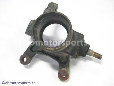 Used Can Am ATV TRAXTER MAX 500 XT OEM part # 709400097 front left steering knuckle for sale