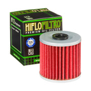 A HF123 Premium Hiflo Filtro oil filter for sale. This filter fits a variety of Kawasaki ATV's & Dirt Bikes. Our online catalog has more new and used parts that will fit your unit!