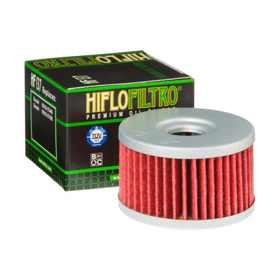 A HF137 Premium Hiflo Filtro oil filter for sale. This filter fits a variety of Suzuki Dirt Bikes. Our online catalog has more new and used parts that will fit your unit!