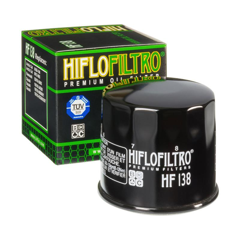 A HF138 Premium Hiflo Filtro oil filter for sale. This filter fits a variety of Suzuki & Arctic Cat ATV's & Dirt Bikes. Our online catalog has more new and used parts that will fit your unit!