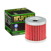 A HF139 Premium Hiflo Filtro oil filter for sale. This filter fits a variety of Suzuki and Kawasaki dirtbikes, and Arctic Cat ATV's. Our online catalog has more new and used parts that will fit your unit!